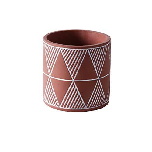 Maceta de cerámica Macetas de Cemento plantadoras de jardín Interior al Aire Libre Plantas con Orificio de Drenaje Modern Succulents Decorativo Pot contenedor para Plantas al Aire Libre
