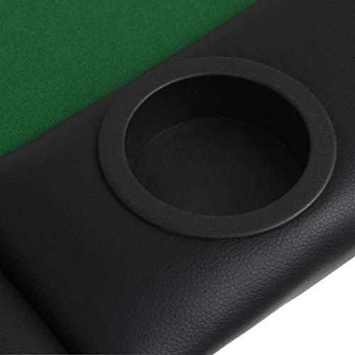 vidaXL Pokertisch 9-Spieler 3-Fach Klappbar Oval Grün Casino Poker Tisch - 8