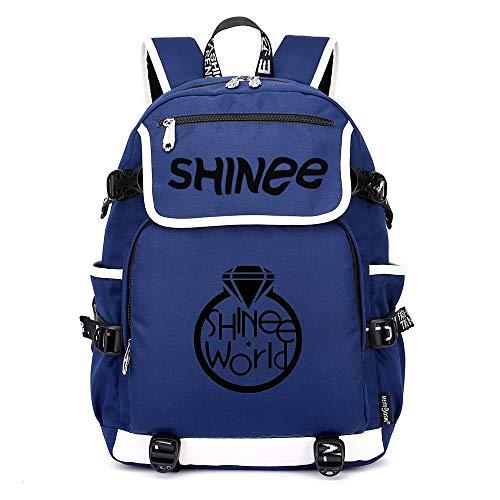 Shinee Rucksäcke Schulranzen Rucksack Daypack Trekkingrucksack Mann und Damenmode Mode Wandern Tasche Sport Wild Style Shinee Backpacks (Color : Blue14, Size : 45 X 37 X 16cm)