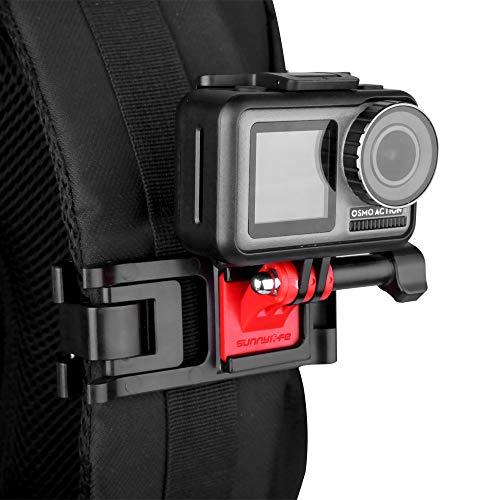Linghuang Einstellbare Action Kamera Rucksack Gurt Halter Clip Halterung für DJI Osmo Pocket GoPro Hero 8 7 6 Xiaomi Yi Kamera Montage Zubehör