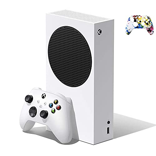 Microsoft Xbox Series S 512 GB SSD All-Digital Console (Disc-Free Gaming): with Wireless Controller, DTS Audio, HDR, 1440p Gaming Resolution, Up to 120 FPS Performance Target + Controller Skin