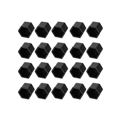 Leluo RUIli-Cover Hutmuttern 20X Auto Radnaben Schraubdeckel-Abdeckungen, Ersatz for Astra H J G Insignia Mokka Corsa D Vectra C Zafira Meriva