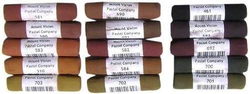 60% de descuento Mount Vision   Soft Pastel   Set of of of 15   Dark Earth Tones  alto descuento