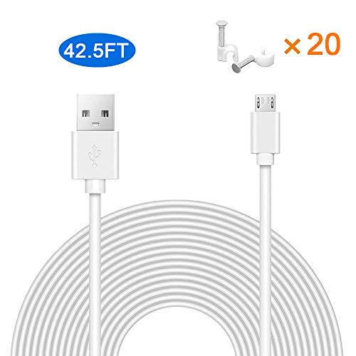 25ft Micro USB Power Cord Charging Cable DC Adapter Extension CCTV Security IP