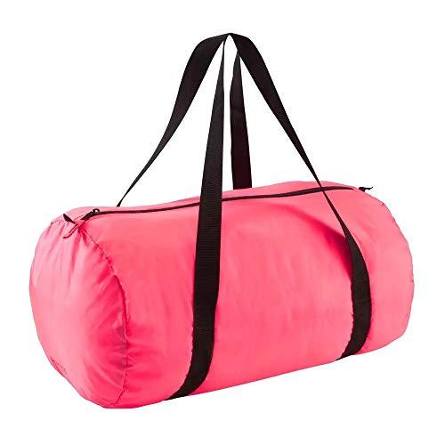Domyos Sporttasche Fitness Cardio faltbar 30 Liter rosa - Männer Frauen Damen Herren Kinder Jugendliche Fußball Schwimmen Sport Tasche Freizeit