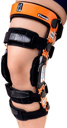 "Z1 K2 Knee Brace –Best Knee Brace for ACL/Ligament Injuries/Sports Injuries, Arthritis (OA) & Preventive Protection & Relief from Knee Joint Pain/Degeneration- Men & Women S12(T=20-21.5""/C=14-15.5"")"