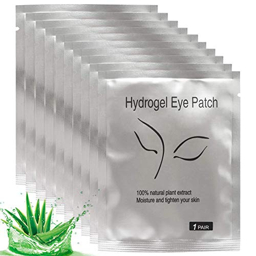 50 Pairs Under Eye Pads Eyelash Extension Gel Patches Lint Free DIY False Lash Extension Beauty Makeup Hydrogel Gel Eye Patches