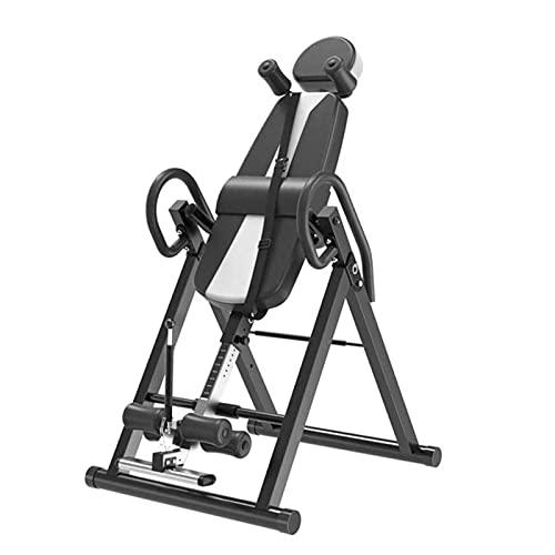 ZLQBHJ Tabla de inversión para el alivio del dolor de espalda, el estiramiento de la espalda invertida de alta resistencia para el almacenamiento, la tabla de gravedad de la terapia de inversión ajust