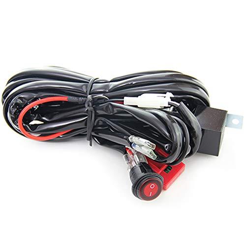 Summerwindy 12 V 40 A relè Cablaggio Lavoro fendinebbia Kit Interruttore ON/off LED Spotlight