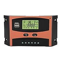 カーアクセサリー用に調整可能なパネルレギュレーターMPPTソーラー充電コントローラー(50A)