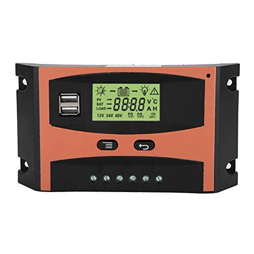 MPPT Solar Regulador Controlador de Carga Solar MPPT PCB Placa de Circuito Regulador del Panel Solar Pantalla LCD de 12V / 24V Controlador automático de batería(50A)
