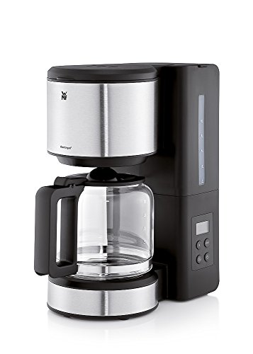 WMF Stelio Aroma Cafetera De Filtro Con Jarra, 1000 W, 1.25 litros, Cromargan/Vidrio, Negro/Plateado