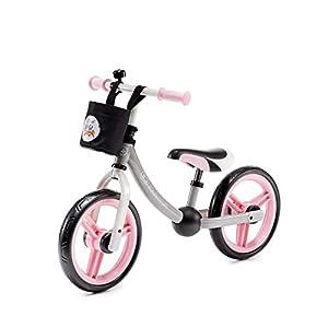 kk Kinderkraft Bici sin Pedales 2WAY Next, Cuadro Bajo, Sillín Blando, Rosa, Unisex-Baby, 86 x 38 x 62