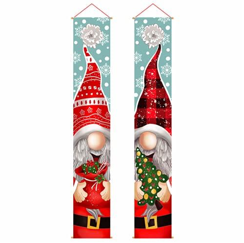Molinter Guirnalda navideña para colgar en la puerta de interior y exterior, jardín, decoración para fiestas, estilo 1