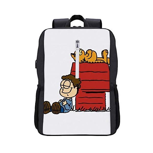 41QCFW4sAGL. SS600  - Jon Brown Garfield Snoopy Peanuts Mochila para portátil con puerto de carga USB