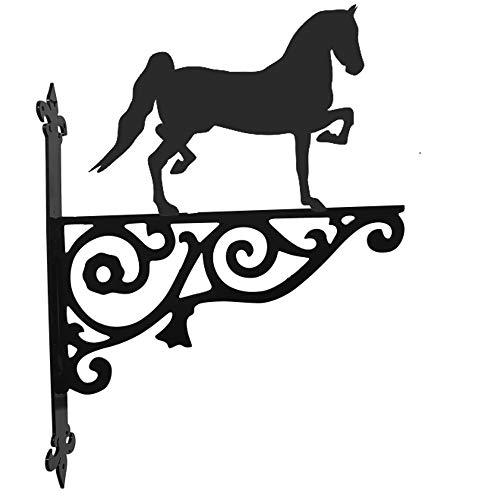 Stalen beelden Paard Hackney Paard Sier Hangende Beugel