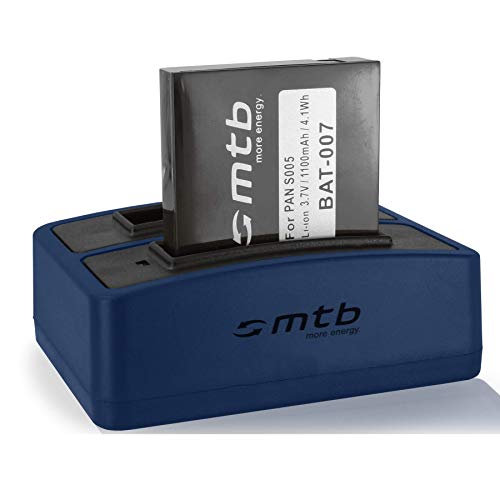 Batería + Cargador Doble (USB) S005, DB-060 para Panasonic Lumix DMC-FX01, FX10, FX100, FX150, LX3 / Ricoh GR Digital I, II … - Ver Lista de compatibilidad