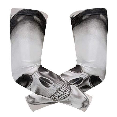 FAJRO Totenkopf mit Kopfhörern, UV-Schutz, Sonnenschutz, Fahrrad-Kompression.