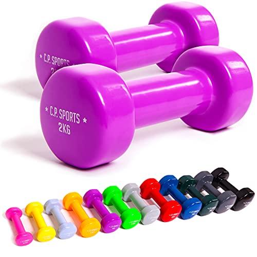 C.P. 1 par de mancuernasde vinilo, mancuernas de puño, pesas, fitness, 0,5;0,75;1;1,5;2;2,5;3;4;5; 6;8;10kg, de C.P. Sports, color 1 x 15kg Vinyl, tamaño 2 x 1,0 KG