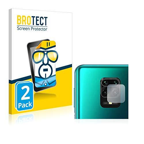 BROTECT Schutzfolie kompatibel mit Xiaomi Redmi Note 9S (Kamera) (2 Stück) klare Bildschirmschutz-Folie