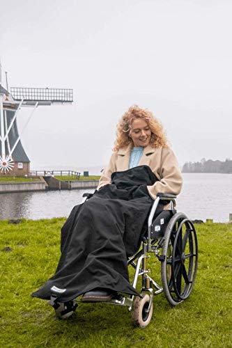 Belieff Rollstuhldecke/Tuch - mit offener Unterseite und Taschen für Hände - Wind- und wasserdicht - Unisex - 100% Polyester und komplett mit Fleece gefüttert