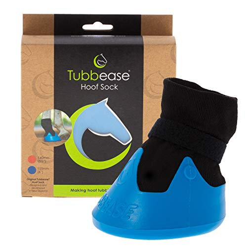 TUBBEASE Hoof Sock – Essential Hoof Care – Short Term Equine Hoof Soaking Boot for Hoof Ailments in Horses and Ponies. Simple, Breathable Design – for Use in Stable