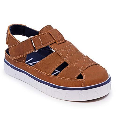 Nautica Kids Mikkel Closed-Toe Outdoor Sport Casual Sandals-Mikkel 2-Tan-10