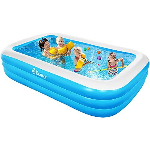 Duerer Aufblasbare Pool, Pool rechteckig, Familienpool für den Garten, Aufblasbare Schwimmbäder, Sommerwasserparty, Schwimmzentrum für Kinder, Erwachsene, Outdoor, Easy Set - 241cm x 142cm x 56cm