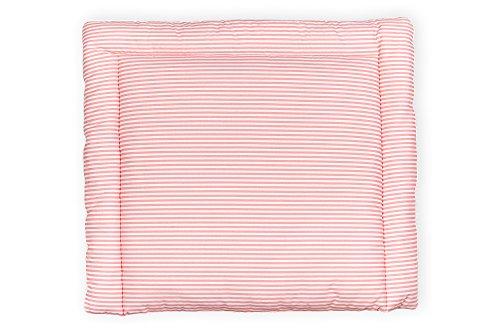 KraftKids Wickelauflage in Streifen rosa, Wickelunterlage 78x78 cm (BxT), Wickelkissen