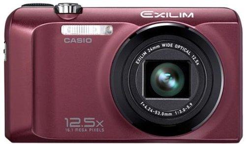 Casio Exilim EX-H30 Fotocamera digitale (16 Megapixel, zoom ottico 12,5x, display 7,6 cm (3 pollici), batteria per 1.000 foto), colore: Bordeaux