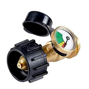GasSaf Propane Tank Gas Gauge Leak Detector - Universal for QCC1 Type1 Propane Tank Gas Pressure Meter