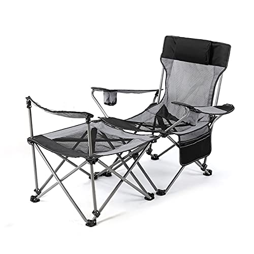 Camping Silla plegable Portátil Mini Table Mesa de picnic Sofa Sillón Adecuado para al aire libre, campamento, picnic, senderismo, terraza de playa y parque de piscina 1 set ( Color : Black-A )
