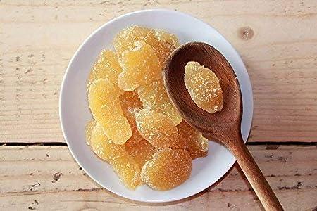 Jengibre Confitado en Trozos 1kg | Fruta Seca Deshidratada | Rodajas de Jengibre Glaseadas | Láminas Desecadas Azucaradas | 100% Origen Natural | IDEAL para recetas | Vegetarianos y Veganos | Dorimed