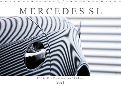 Mercedes SL R230 - Ein Denkmal auf Rädern (Wandkalender 2021 DIN A3 quer)