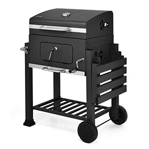 RVTYR Barbecue Grill BBQ Grill - verdicken Tragbarer Grill Hausgarten Kohlegroßhandels Smokeless Barbecue Auto im Freien Villa Holzkohlegrills @ kontaktgrill (Color : Black)
