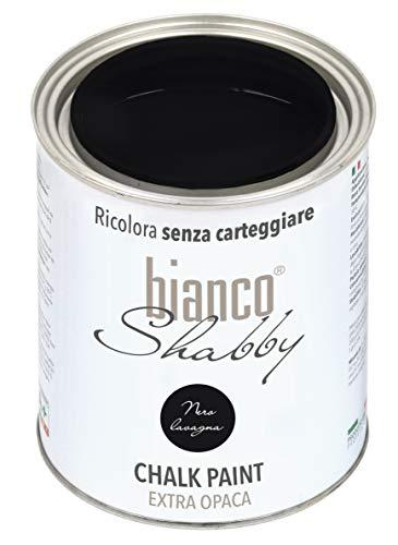 CHALK PAINT Nero Lavagna per Mobili e Pareti - Pittura Shabby Chic Vintage EXTRA OPACA (1 Litro)