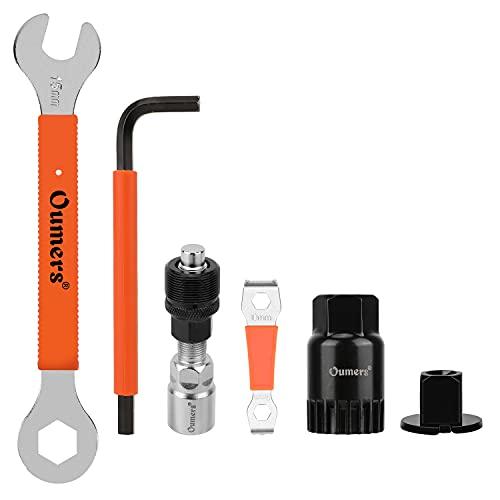 Oumers Fahrrad Crank Extractor Set,Fahrrad Tretlager Werkzeug Inbusschlüssel 16mm 15mm Schraubenschlüssel Geeignet zum Entfernen der Fahrradkurbel
