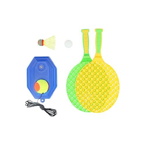 Caiqinlen Raqueta de Tenis para niños, Equipo de Entrenamiento de Tenis Ligero, Equipo de Entrenamiento de Tenis con Cuerda/Tenis de Mesa/bádminton para Exteriores para niños
