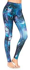 Sugar Pocket Womens Athletic Yoga Pants Printed Workout Yoga Leggings Fitness Tights, L, 81 Printed #2