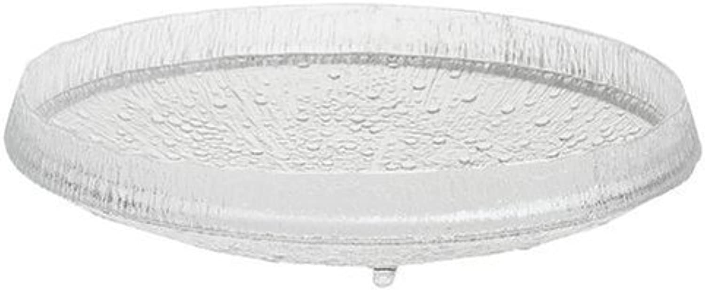 Iittala Ultima Thule Certerpiece Bowl   Platter 14.56  Clear Glass