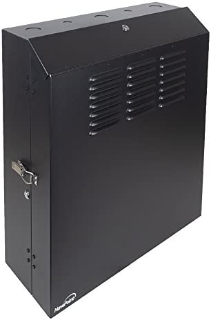 NavePoint 5U Low Profile Vertical Wall Mount Enclosure 20 Inch Switch Depth Patch Panel Cabinet Black