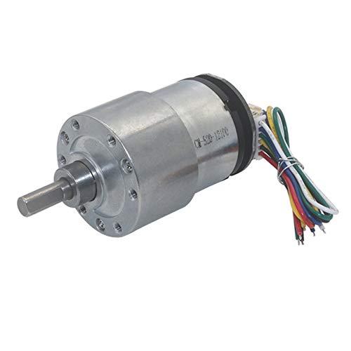 CROSYO 1pc eléctrico 12V DC Micro Motorreductor codificador 6V 12 voltios Bajas RPM 7 for 1590RPM Velocidad Ajustable Invertida High Torque Mini DC Motors