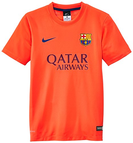 NIKE FC Barcelona Away Supporters - Camiseta de fútbol, Color Gris, Talla S