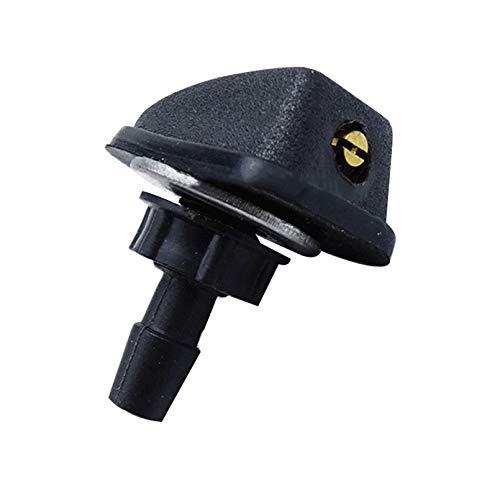 FAFAFA 100 Set Autoscheibenwasch Wiper Wassersprühdüse Universal Black Plastic Fan Shaped Einstellbare Düse