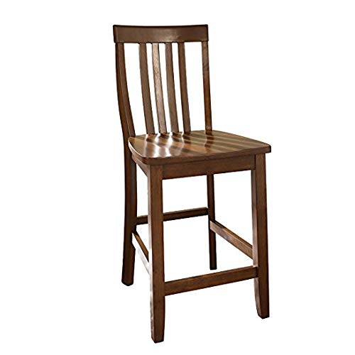 Big Sale Crosley Furniture School House Bar Stool, Classic Cherry with 24-Inch Seat Height, Set of 2