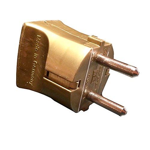 Enchufe Schuko dorado VDE 250 V con protección de contacto, enchufe europeo