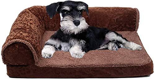 Huisdier nest Deluxe Memory Foam Dog Sofa matras Bed Fleece for kleine middelgrote honden stereoscopische Sponge Afneembare hok (Size : L)