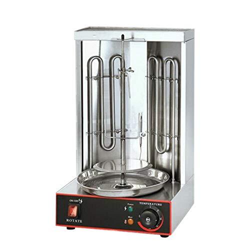 DIFU Elektrische Grill Maschine, 2 Brenner Gyrosmaschine Grill Machine Elektro Dönergrill Gyrosgrill Gyros Dönergerät Dönermaschine BBQ 50-300℃
