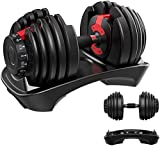 YPC Single Adjustable Dumbbell,5lb-52.5lb Fast Adjust Weight Dumbbell,Training Weights...