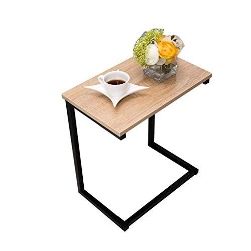 SZQ-Bouts de canapé Accueil Bureau, simple couche support métallique Table de chevet Hôpital Hôtel mobile Table Grande surface facile à nettoyer Taille de la table de lecture: 48 * 30 * 58.5cm Guérido